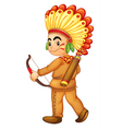 American Indian Boy vector image