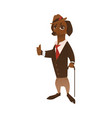 dog character in formal clothing vector image