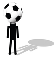 football ball like had of player vector image