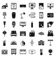 house decoration icons set simple style vector image