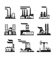Industrial buildings nuclear plants and factories vector image