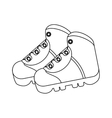 outline boots shoes equipment adventure camping vector image