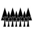 pine trees foliage ecology environment botanical vector image