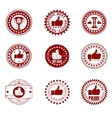Quality stamp set vector image