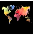 watercolor map on a black background vector image