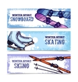 Winter Sport Banner Set vector image