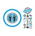 Global Partnership Flat Icon with Bonus vector image