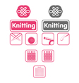 knit icons vector image