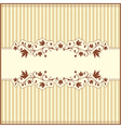 Retro autumn card vector image