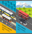 eco transport banners set vector image