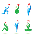 icons with heart vector image vector image