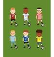 pixel art style set - football soccer vector image
