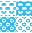 CD stack patterns set vector image vector image