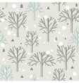 Seamless pattern for Winter forest and christmas vector image