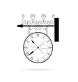 clock ticking on white vector image vector image