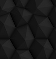 Black Polygonal Background vector image vector image