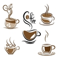 Set of coffee cups vector image