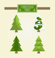 christmas tree types set vector image