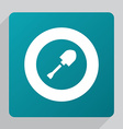 flat shovel icon vector image