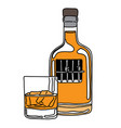 metaphor alcoholic person in the jail of liquor vector image