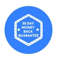 Money back guarantee icon in black style isolated vector image