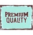 Premium quality hand lettering Vintage poster vector image
