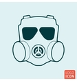 Respirator icon isolated vector image