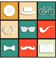 Set hipster icons vector image
