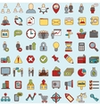 Set of 64 web icons for business finance and vector image