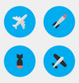 set of simple plane icons elements aircraft bomb vector image