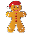 gingerbread cookie vector image