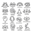 Business management icons in line style Pack 06 vector image