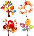 Easter tree set vector image