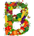 LETTERS vegetabless B vector image vector image