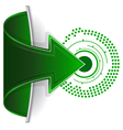 abstract web arrow in green color vector image