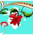 colorful background with red flowers vector image vector image