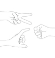 hand set 4 vector image