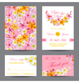 Invitation or Greeting Card Set - for Wedding vector image vector image