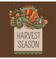 harvest season label vector image