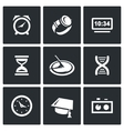 Various clock and a method for determining time vector image