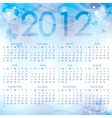 calendar 2012 vector image