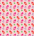 Retro valentine seamless pattern with hearts vector image