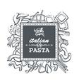 pasta restaurant vector image
