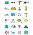 Traveling icons set vector image