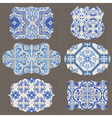 Vintage Tiles Design elements vector image vector image