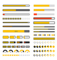 Different style trendy interface progress bars vector image