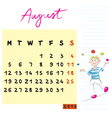 august 2013 vector image