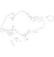 Black White Singapore Outline Map vector image