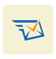 check message envelope logo vector image