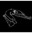 Hand-drawn pencil graphics vulture eagle falcon vector image